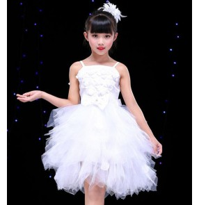 kids jazz dance dress princes modern dance dress chorus school model show stage performance dress